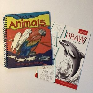"""$5 bundle item☀️ Two """"How to Draw"""" books"""